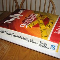 Book Cover Cake All painted MMF