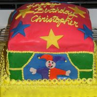 Puppet Theatre Birthday Cake This is a cake I made for a child who was having a puppet theatre theme...fondant