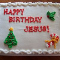 Happy Birthday Jesus Christmas Cake for my parent's church.