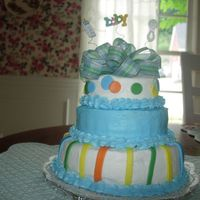 Baby Shower I made this for my daughter'b boyfriend's sister baby shower. They were just going to buy an ice cream cake, so I volunteered a...