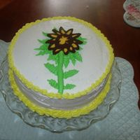 Sunflower Cake Just for fun! Has some leftover BC, so I thought I would try a transfer. I used the wrong kind of chocolate and it was too thick. I love...