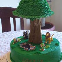 Jungle Cake This was a cake that I made for my daughter's 3rd birthday. Her only requirement was that it had to have jungle animals on it. It is...