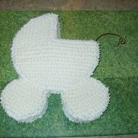Golf Ball Baby Carriage This cake was served at a baby shower for a friend who decorated her little boy's nursery with golf decor.