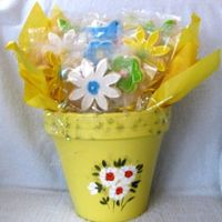 Birthday Cookie Bouquet NFSC with Michele Foster's Fondant in a hand-painted pot