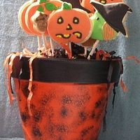 Halloween Cookie Bouquet NFSC with Michele Fosters Fondant and RI