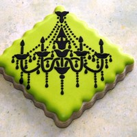 Chandelier Cookie NFSC--Antonia's Icing--Stenciled details
