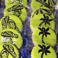 More Luau Cookies NFSC--Antonia's Icing--Stenciled details
