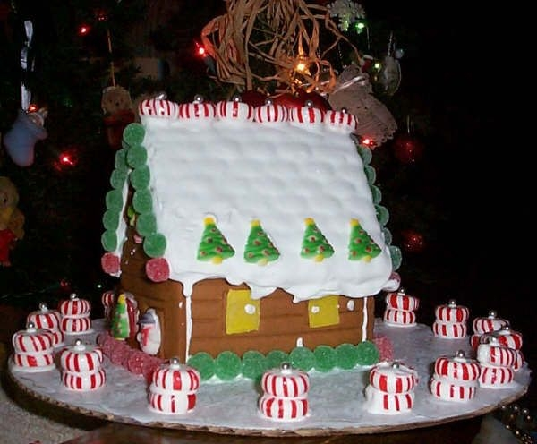 Crude Gingerbread House