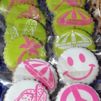 Luau Cookies NFSC--Antonia;s Icing--Stenciled Details