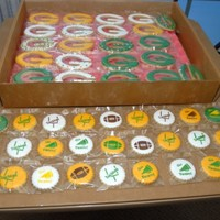 Packer Cookies! NFSC--Antonia's Icing--Some with stenciled details
