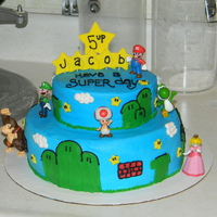 Super Mario Brothers made for a 5 year old who loves super mario!