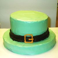 St. Patrick's Day Hat Nothing special - Just a fun little quick cake I did for my husband's work. Bottom layer is yellow cake, other two layers are...