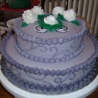 Birthday Cake For My Grandmother  I used the pattern press on the sides of the cake to make sure I had even scrollwork. I varied the colors so that the purple got darker as...