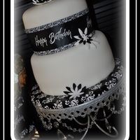 Black And White 40Th My First Fondant Covered Cake! I made this for my husband's 40th Surprise Birthday Party. In an effort to stay classy yet masculine I...