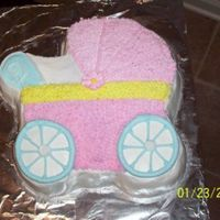 Baby Buggie Cake I made this cake for a friend of mine - we served it at her shower. It was supper easy b/c it's one of the molded pans. But, none-the-...