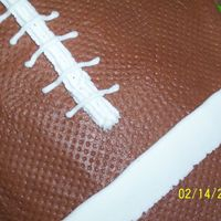Football Cake - Close Up This is a better view of the marks on the football...I couldn't believe how well the paper towel trick worked! Thanks again to...