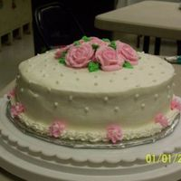 Rose Cake Again, this is another first for me. It was my first shot at making roses. I did this for a Wilton class
