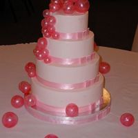 Smiddy_Wedding6G.jpg All PINK Butter Cream cake with PINK satin ribbon border. Tons of PINK blown sugar bubbles. Here is a link to the tutorial I did! http://...