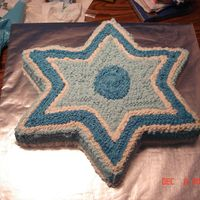 Star Of David Hanukkah Cake