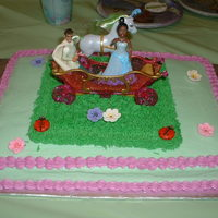 Princess Jaylah's Birthday Cake!!!!!!! Cake was for my neice's 4th Birthday she wanted a princess and the frog theme. Simple sheet cake with butterceam frosting. Princess...