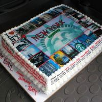 New York On A Cake  Take a bite out of high fuel cost, travel thru cake! Lots of history and edible images.has map quest directions, and lists all the...