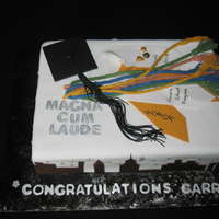 Carrie's Graduation Cake for college graduate moving to New York which incorporated all her awards and some of the New York skyline. Lemon cake torted with...