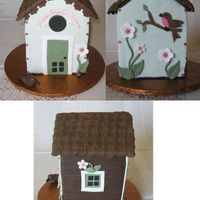 Birdhouse This was made for a birdhouse auction benefit. It was auctioned along with 120 or so real birdhouses. Grand Marnier cake filled and iced...