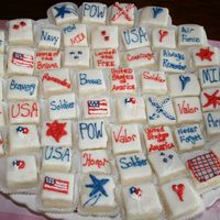 Memorial Day Petite Fours Petite Fours I did for a memorial day gathering