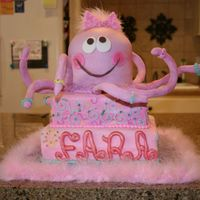 Octopus Birthday Made this all day today... It matches the birthday girl's dress ( an adorably oilily dress). All MMF w/ some buttercream piping and...