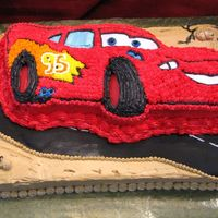 Cars Thanks everyone for all the inspiration. I used fondant for the road and bC for everything else.