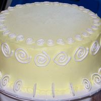 Grandma's 80Th Birthday Cake   Yellow BC with RI swirls.