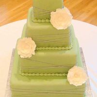 Sage Green Square Wedding I made this for my brother's wedding. The green was a little different than the picture shows--more muted, I guess. The tier sizes...