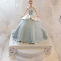 Cinderella At The Ball This was for my niece's 4th birthday. The base is a 12-inch square-- 4 layers of strawberry cake with lemon cream cheese filling (the...