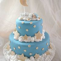 Sleeping Baby I made this for my niece's baby shower. Thanks to CustomCakesbySharon--one of her cakes was a huge inspiration. Bottom tier is 10-inch...