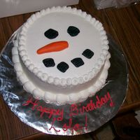 Snowman Smash Cake This is a smash cake for a snowman themed birthday party, all done in buttercream