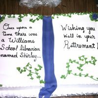 Retirement Cake For A Librarian