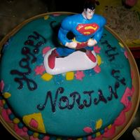 Superman Cake My son loves superman. He fancies himself as the next superhero. What a thought!