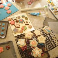 "Cookie Decorating Day! i invited a few of my friends over for a cookie decorating ""party"" the next few pics will be of the ""art"" we created..."