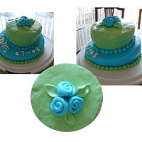 Lumpy Whimsy 2 Tier Valks Cake lots of experimentation on this one! fondant definitely isn't my best medium, i can't get it smooth. especially the top cake is...
