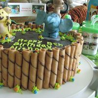 Safari Cake With Rintoo / Hoho a safari cake with elephant, rintoo and ho ho from NI Hao Kai Lan. The characters are made from sculpey clay and place on top of a plastic...
