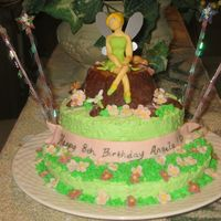 Tinker Bell Made Of Candy Clay Most of the decoration on this cake was made of candy clay. This cake was so much fun to make. Tinker bell face was hard to do, but tried...