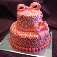 Pink Leopard Print This is a cake that I made for a lady at my doctor's office. It was actually for an office baby shower. They requested the pink...