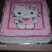 Kitty Vanilla cake with buttercream. Made for a friend of mine daughter birthday.Her daughter was happy.