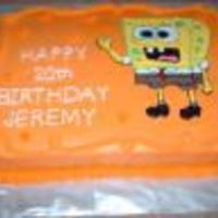 20Th Birthday This is a white cake with buttercream icing made for a friend son birthday who like sponge bob and the color orange.