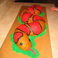 Snake A corn snake made for a 6th Animal Planet Birthday Party 2 Bundt's with BC icing, thanks for all the tips and ideas from here and...