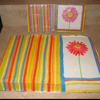 Daisy And Stripes 2/3 White and 1/3 chocolate with BC to match napkins