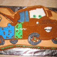 Tow Mater Tow Truck This is chocolate cake with BC icing made for my friend's son's sixth birthday! He loved the CARS movie.