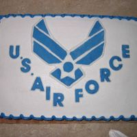 Air Force Symbol This was made for a going away party for a guy joining the AF.