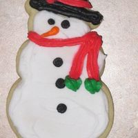 Snowman Sugar Cookie My Grandma's Sugar cookie recipe and BC icing....MY FAVORITE! ;)