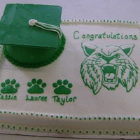 Bocat Graduation Cat Bobcat Graduation Cake